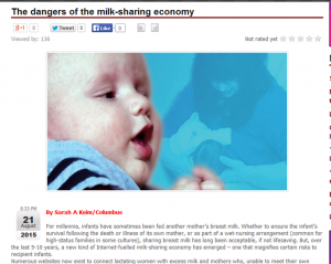 Dangers of Milk Sharing