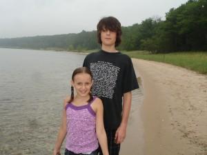 My kids at the beach